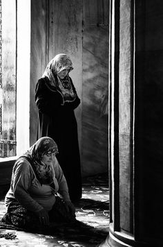 Two observant Turkish woman praying to God #islam #hijab