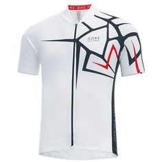 A cycling jersey with classic features a sporty cut and a striking print design. made from elastic moisture wicking functional material full-length lined front camlock zip rear pocket elastic. Sport Shirt Design, Sports Jersey Design, Sport T Shirt, Triathlon Clothing, Races Outfit, Jersey Outfit, Bike Wear, Spirit Wear, Team Shirts