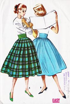 1950's Rockabilly Swing Skirt - Because the more volume a skirt has, the better! Petticoat optional.