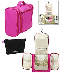 8cfeb9cd0b4d Amazon.com  JAVOedge Blue Personal Travel Bathroom Hanging Organizer for  Toiletries