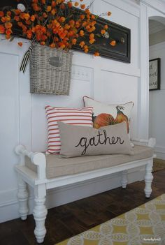 Perfect bench for fall.