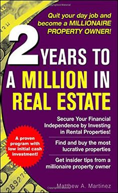 2 Years to a Million in Real Estate by Matthew Martinez http://www.amazon.com/dp/0071471871/ref=cm_sw_r_pi_dp_QHqhub0A7CKMT