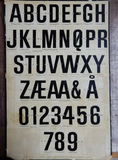 Another poster, this one showing the 'Three Column Block' alphabet