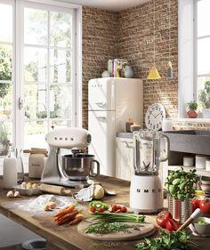 SMEG 11.7 cu. ft. Counter Depth Bottom Freezer Refrigerator with Wine Rack & Reviews | Wayfair