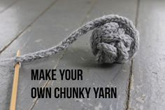 Do you ever wish you could combine all your lightweight yarn into one chunky skein? You can!
