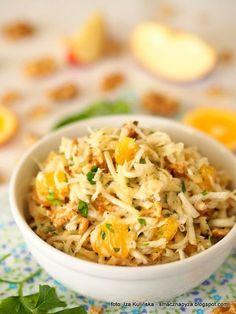 pyszna-surowka-z-selera Salad Recipes, Vegan Recipes, Cooking Recipes, Simply Recipes, Great Recipes, Vegan Runner, Vegan Gains, Work Meals, Vegan Pizza