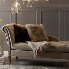 Mink Collette Chaise Longue #Downton #Dunelm #Decor