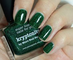 piCture pOlish 'Kryptonite' mani by The Nail Network!  Buy on-line now:  www.picturepolish.com.au