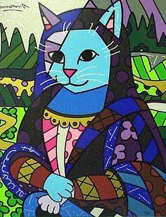 """""""Mona Lisa Cat"""" Gatos Consentidos: Los Gatos de Romero Britto"""
