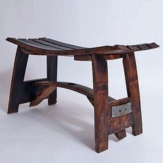 Retired Wine Barrel Stave Bench at Wine Enthusiast - $995.00