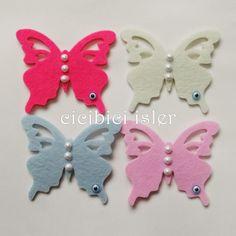 Keçe Bebek/nikah şekeri modeli kelebek | cicibiciisler Ice Tray, Silicone Molds, Cookie Cutters, Google, Butterflies, Amigurumi
