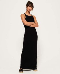 Superdry damen kleid tri league maxi