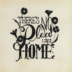 free papercut template: There's No Place Like Home - by Cindy Bean