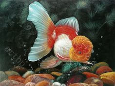 Famous Realism Art | Goldfish Realism No fade Waterproof Christmas gift home hotel wall art ...