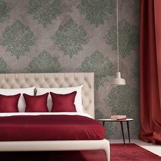 Wall Stencil Large Damask Template Rachelle for Elegant Wallpaper Look #JBOUTIQUESTENCILS