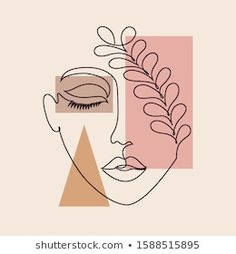 Small Canvas Art, Mini Canvas Art, Abstract Face Art, Outline Art, Arte Pop, Art Drawings Sketches, Doodle Art, Line Drawing Art, Contemporary Tapestries