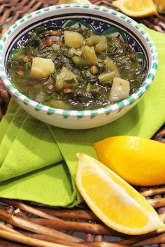Another traditional Lebanese soup, served also as a main dish due to its powerful ingredients; featuring chard, lentil and potato. A hearty soup, full of iron, protein, fibers and vitamins, suitabl…