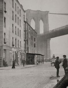 Brooklyn Bridge, New York, 1921, E.O. Hoppe