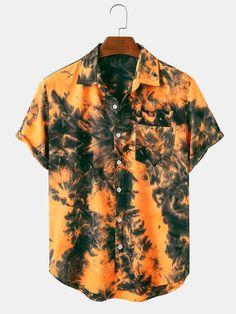 Casual T Shirts, Cool Shirts, Men Casual, Tie Dye Shirts, Mens Printed Shirts, Henley Shirts, Vintage Men, Mens Vintage Shirts, Fashion Prints