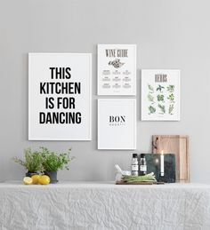 Typography print for the kitchen with a great message.