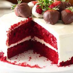 Homemade Cake Recipes, Fun Baking Recipes, Cookie Recipes, Dessert Recipes, Sweet Recipes, Easy Recipes, Bolo Red Velvet Receita, Chocolate Flavors, Baking Chocolate Cake