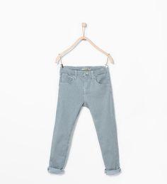 Image 1 of Striped skinny jeans from Zara