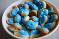 Twitter cookie #blue #pastry #yummy