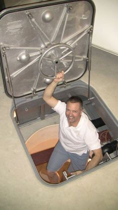 Security Pod (aka Urban Foxhole) that can be installed under your existing garage floor or a concrete slab. The Security Pod can be used as a panic room, a secure storage vault or a survival bunker.: #bunkerplans