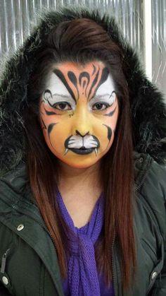 Tigre clown make up