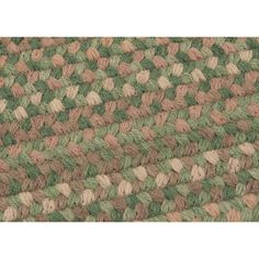 Colonial Mills Gloucester Cabana Braided Green Area Rug Rug Size: Runner 2' x 12'
