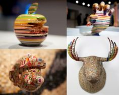 14 Most Creative Sculptures Made From Outdated Skateboard - FunCageFunCage Creative Art, Amazing Art, Skateboard, Sculptures, Cool Stuff, Inspiration, Artworks, Creativity, Design