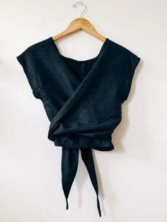 Wrap Shirt, Wrap Blouse, Wrap Tops, Silk Wrap, Kimono Shirt, Water Tribe, Diy Clothes, Inverted Triangle, Kimono Style