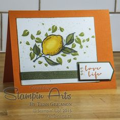 http://stampinarts.ca/2015/01/sale-bration-happy-thing-stamp-set/  A happy little lemon from A Happy Thing Stamp Set.