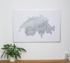 Wir verkaufen 3D gedruckte topografische Höhenkarten diverser Regionen/Länder. Dabei handelt es sich um Kunstwerke für alle Outdoor Enthusiasten und Urlauber die, sich die Landschaft einer Region besonders hochwertig an die Wand hängen möchten. Art Work, 3d Printing, Art Prints, Printed, Outdoor, Home Decor, Artworks, Printing, Landscape