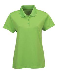 Womens Knit Polo Shirt 100% Polyester.  Tri mountain 066