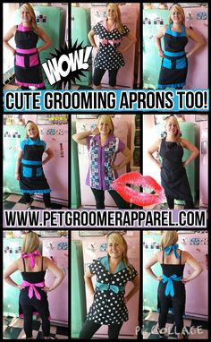 Grooming Aprons, and Grooming Apparel for the Professional Pet Groomers by www.petgroomerapparel.com #grooming-aprons, #pet-grooming-apparel, #grooming-smocks