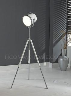 Lampadaire design blanc sur trépied CLIPO