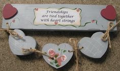 Wooden Country Crafts - Friendship heart strings