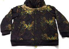 Al Wissam XL Denim Culture Hip Hop Nylon Jacket Fur Hood Men's Colorful Black #ALWISSAM #BasicCoat
