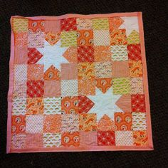 Quilt #2 awaiting hand-stitched binding. Feeling mighty productive at #stashbash #thestashbash by kldemare, via Flickr