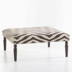 Kilim Ottoman - Zebra