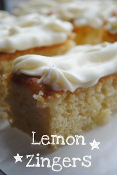 Lemon Zinger Cakes with Lemon Cream Cheese Frosting