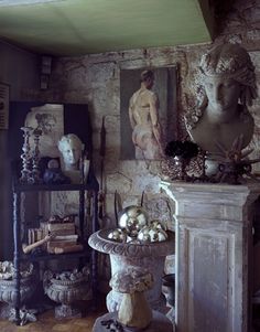 The home of French make-up artist Emmanuel Sammartino and his partner, Christophe Herve, who own flower boutique, Odorantes in St Germain, Paris