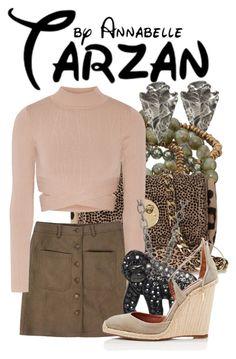 """Tarzan"" by annabelle-95 ❤ liked on Polyvore featuring Dee Berkley, Hill & Friends, Jonathan Simkhai, Animal Planet, Aquazzura, women's clothing, women's fashion, women, female and woman"