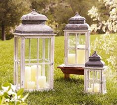 I love lanterns!  Maybe different colors of candles for a pop of color.