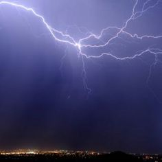 Lightning bolt over Ridgecrest, CA #lighting #storm #thunder