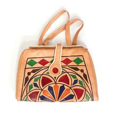 Patchwork Leather Tote.