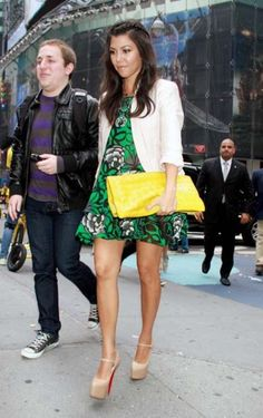 Kourtney Kardashian: Love her cute style that is always on trend but never overpowers her petite frame.