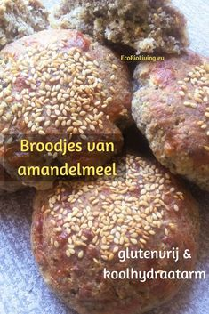 Koolhydraatarme broodjes maken met amandelmeel • EcoBioLiving