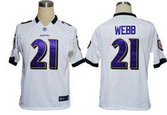 Baltimore Ravens #21 Lardarius Webb NIKE game Jersey in White  ID:903000902$23